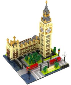 Landmark Series Building Block Set Big Ben Model 1641pcs Nanoblock Micro Diamand Blocks Architecture DIY Toys