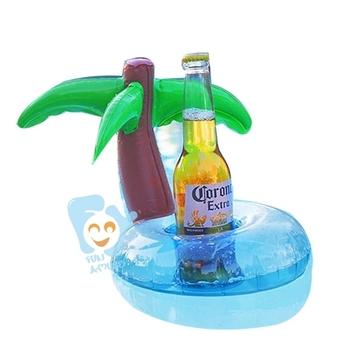Delicieux Mini Inflatable Palm Tree Beverage Float Holder Inflatable Floating Drink  Holder
