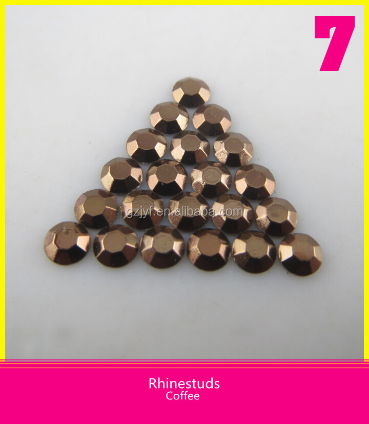 Wholesale Hot Fix Flatback Coffee Color Rhinestuds Size Ss20 5mm For Garment