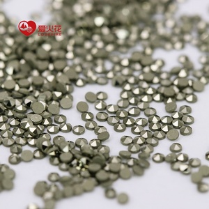 1.2mm Yellow Color Marcasite Stones synthetic round shape loose gemstone MOQ 200pcs