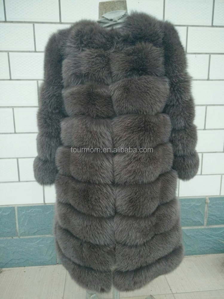 custom size color fox fur clothes with zipper sleeve remove type russian type