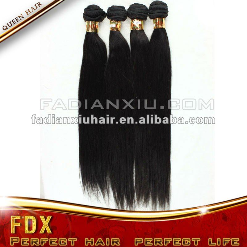 factory sale 100% European human hair extenion, silky straight hair weaving