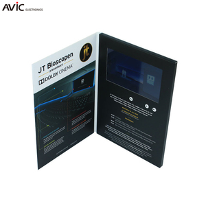8GB A5 size lcd tft video greeting card advertising card with hd screen and speedy delivery