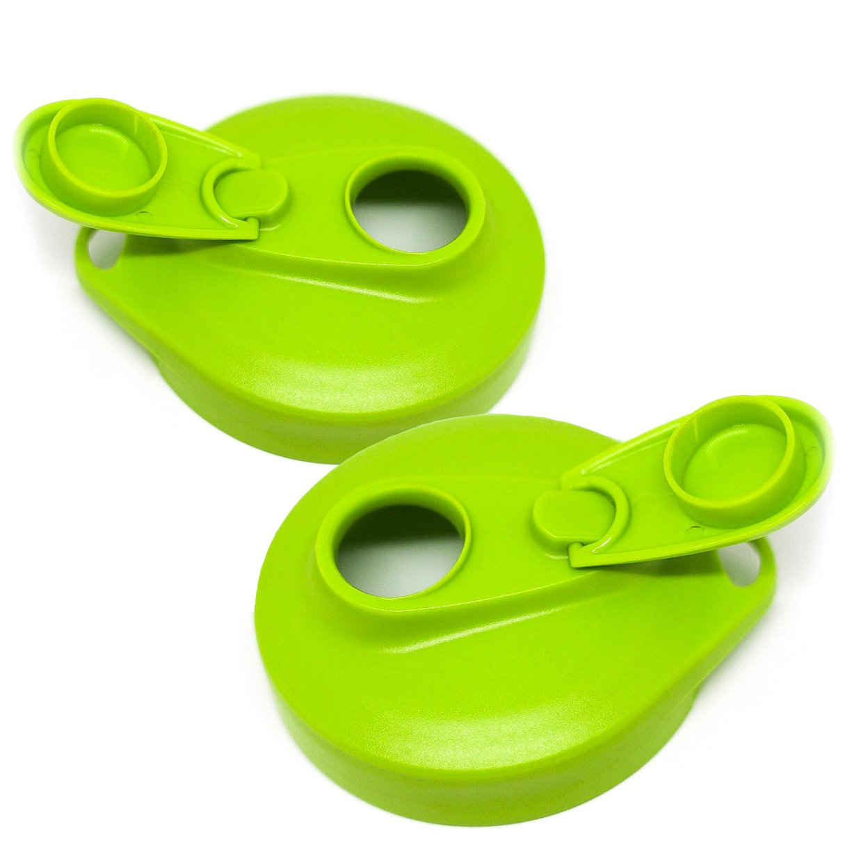 Masontops Multi Top Plastic Mason Jar Lids with Pour Spout and Flip Cap – Sip, Pour, Store & More – Fits Any Wide Mouth Mason Jar - 2 Pack Green