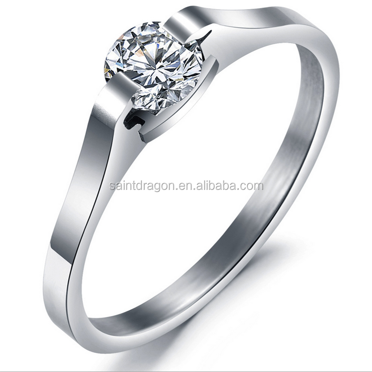 2018 latest designs upscale silver ring fashion crystal wedding ring for girls alibaba wholesale, Shown as pics