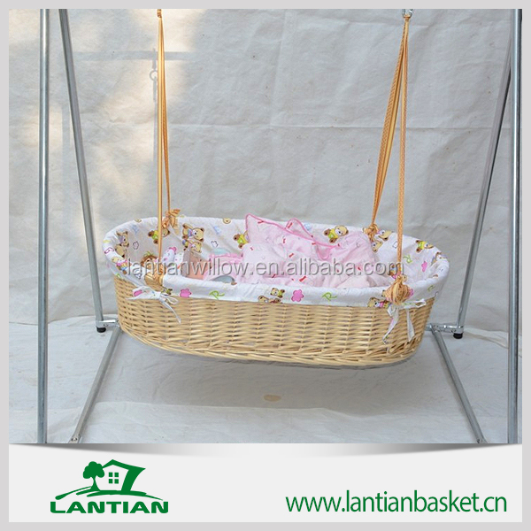 Hot Sale Popular Woven willow baby basket