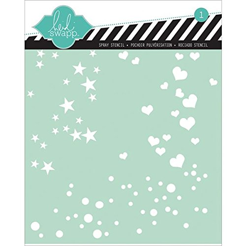 Heidi Swapp Spray Stencil by American Crafts | Stars, Hearts and Polka Dots