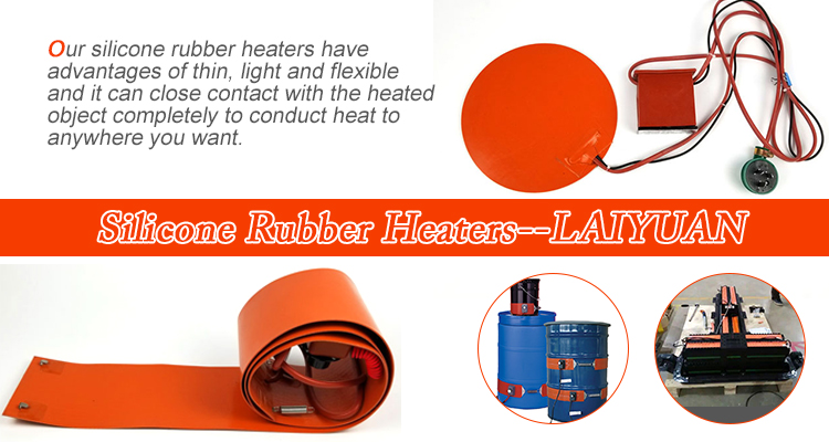 110v 350w Pad Heater Drum Heating Silicone Rubber Heater