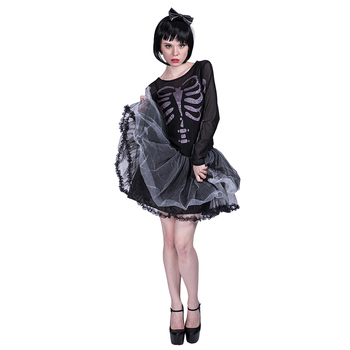 Halloween party fancy dress lady girls cute skeleton costume for adults women  sc 1 st  Alibaba & Halloween Party Fancy Dress Lady Girls Cute Skeleton Costume For ...