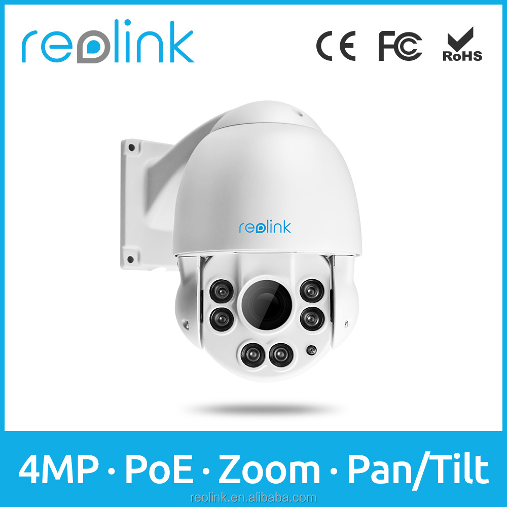 4.0MP Speed Dome PTZ IP Camera PoE Wired Outdoor IP66 Waterproof Reolink RLC-423