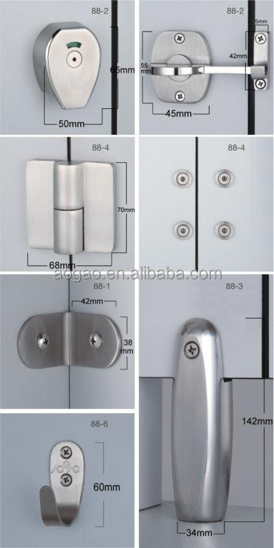 Aogao 88 series compact hpl toilet cubicles door