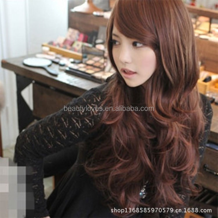 Hot sales cheap synthetic wigs lace front long wavy wigs for women