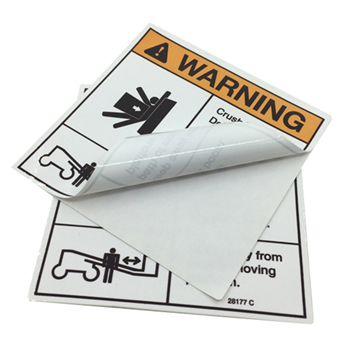 Logo Design Warning StickersSelf Adhesive Pvc Packaging Label - Cheap custom vinyl stickers