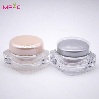 Special design cosmetic skin care package small double wall square 15g acrylic jar