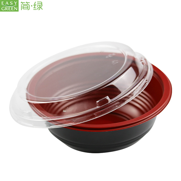 Easy Green Disposable food grade microwavable PP takeaway soup packaging noodle rice lunch bowl