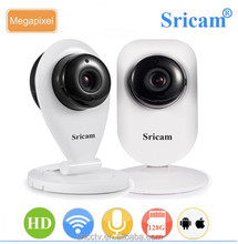 Sricam SP009A 1.0 MP CMOS 128G SD Card Storage Two Way Audio Indoor Security Wifi IP Camera