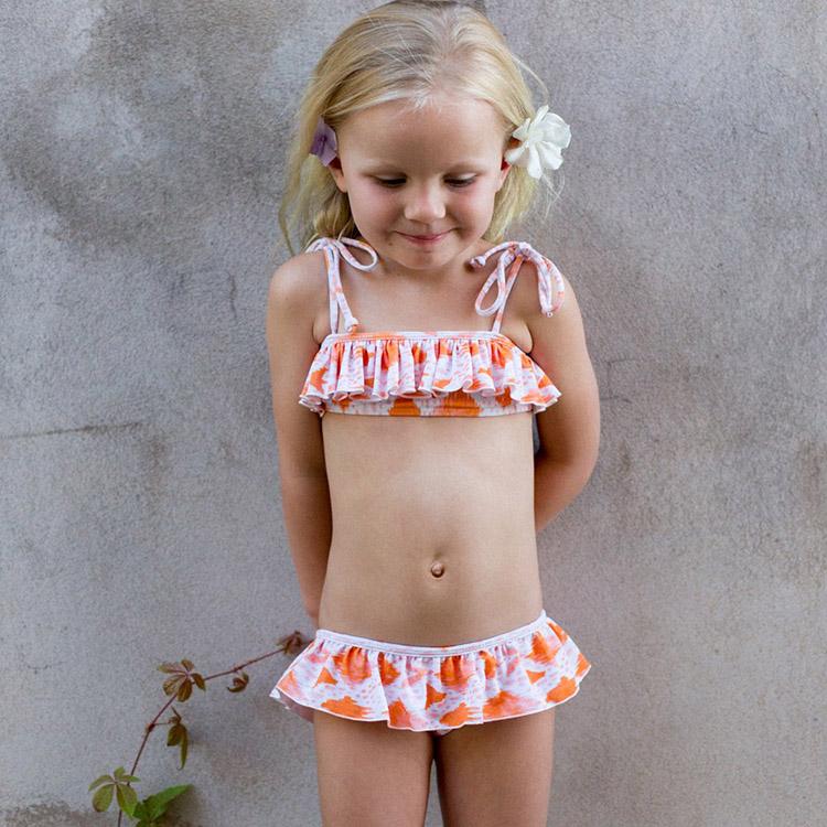 Toddler Kids Girl/'s Cute Ruffles Swimwear Swimsuit Bikini Bathing Suit Beachwear