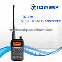 Td-v60 vhf uhf 5w Fm display 128channel world band receiver radio