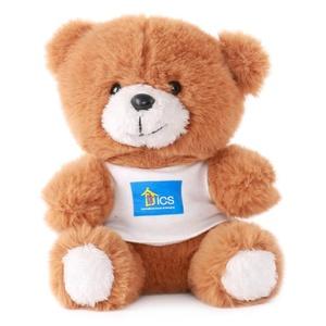 Promotion gift teddy bear custom logo shirt bear Sitting Baby Toy 15cm plush teddy