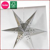 white and silver paper star lanterns wholesale decorative paper stars