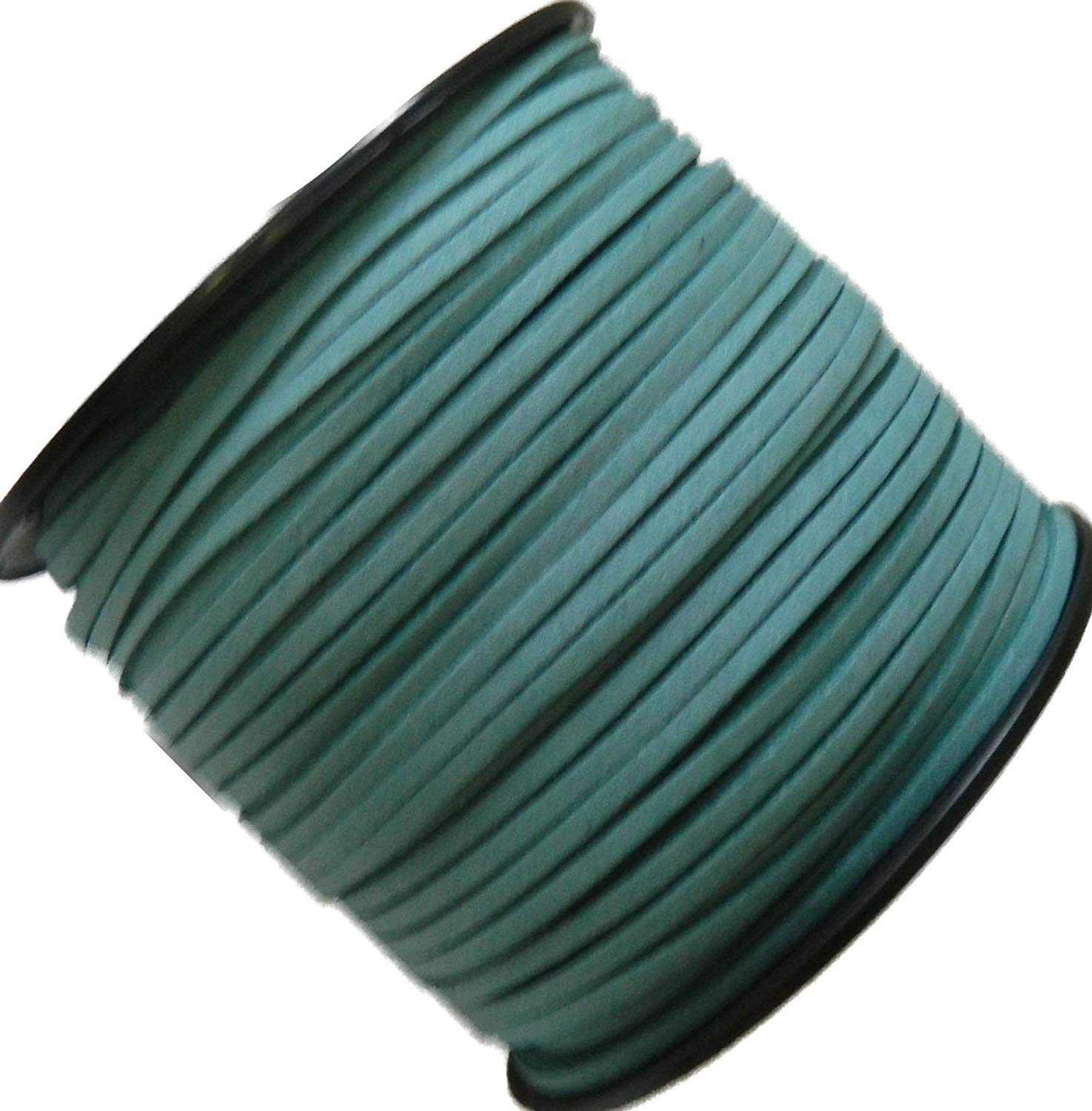 Rockin Beads Turquoise Blue Micro Fiber Faux Suede 3mm 90 Yard Spool Flat Lace Beading Craft Cord