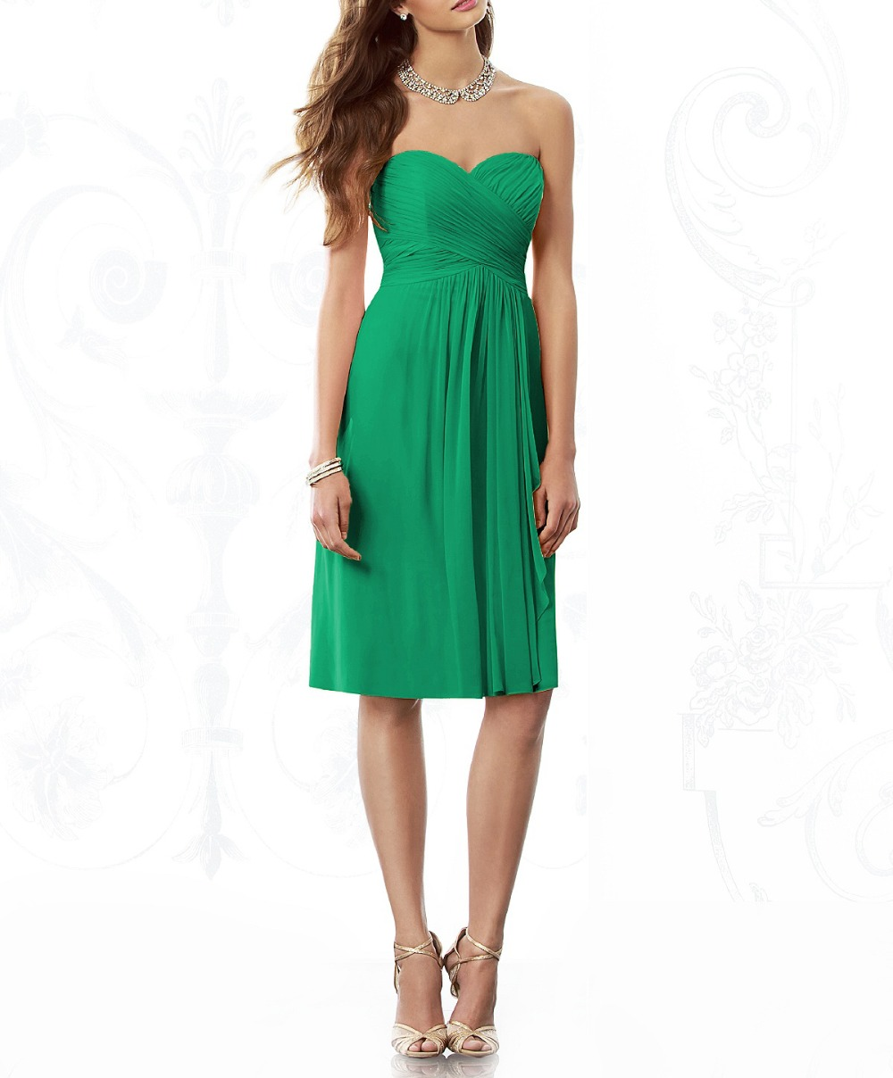 Affordable Wedding Guest Dresses: 2016 Emerald Green Cheap Bridemaid Dresses Under $50