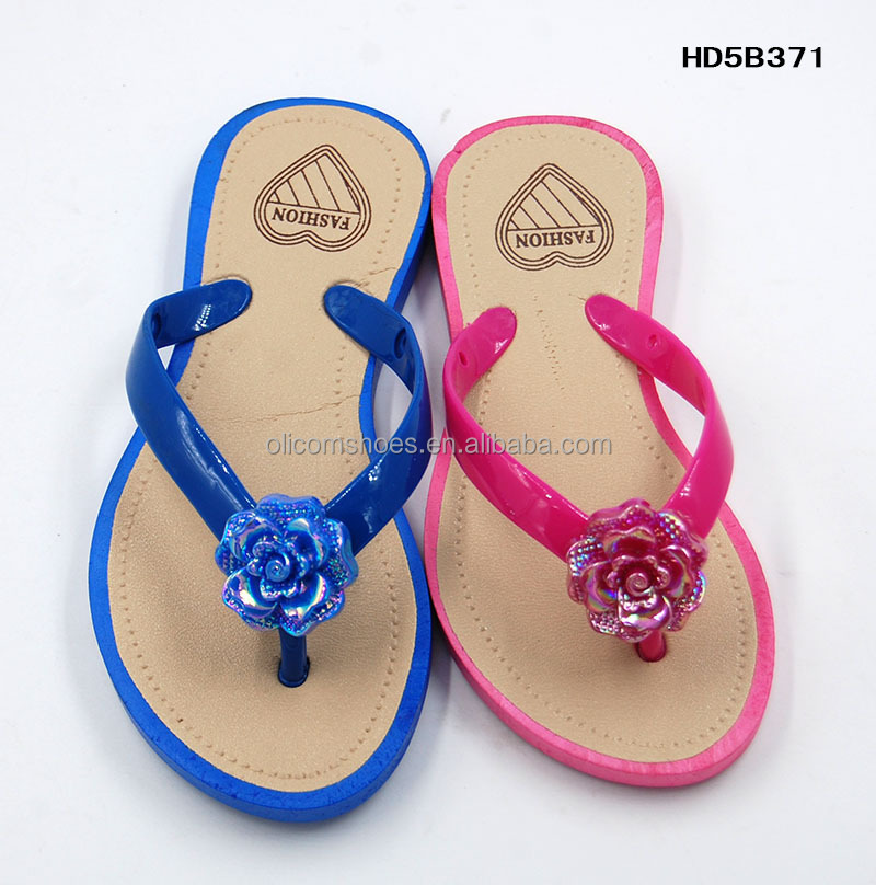Wholesale cheap flower pcu ladies slippers
