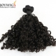 Stock micro beads 8 inch virgin remy brazilian hair weft brazilian curly human hair weft for black women