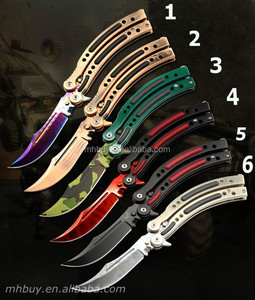 Customized Logo Combat Hunting Cross Fire CSGO Karambit knife Knives blunt / Sharp Blade
