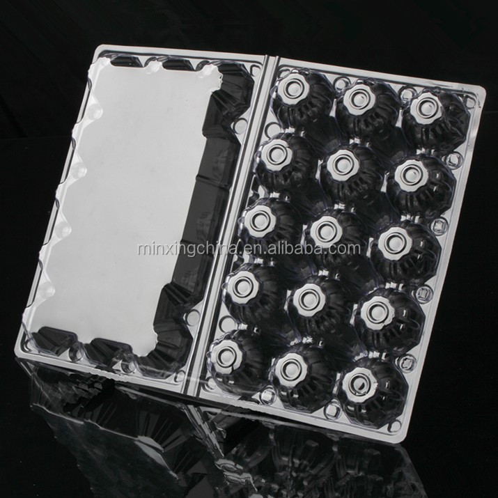 Supermarket PET/PVC clear quail/chicken egg trays plastic blister packaging