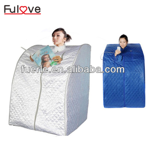 personal folding automatic portable ozone sauna cabin infrared home spa one person steam sauna room for detox/weight loss