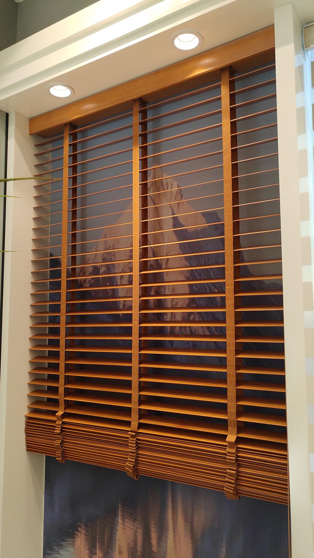 Curtain Times 50mm Wood Venetian Blinds Modern Office