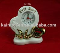 Fashional ceramic home decoration with clock