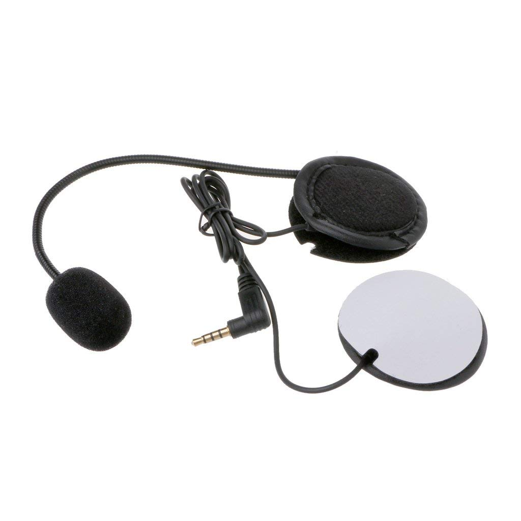 Fucung Microphone Speaker Soft Cable Headset Accessory for Motorcycle Helmet Bluetooth Interphone Intercom Work with Any 3.5mm-plug