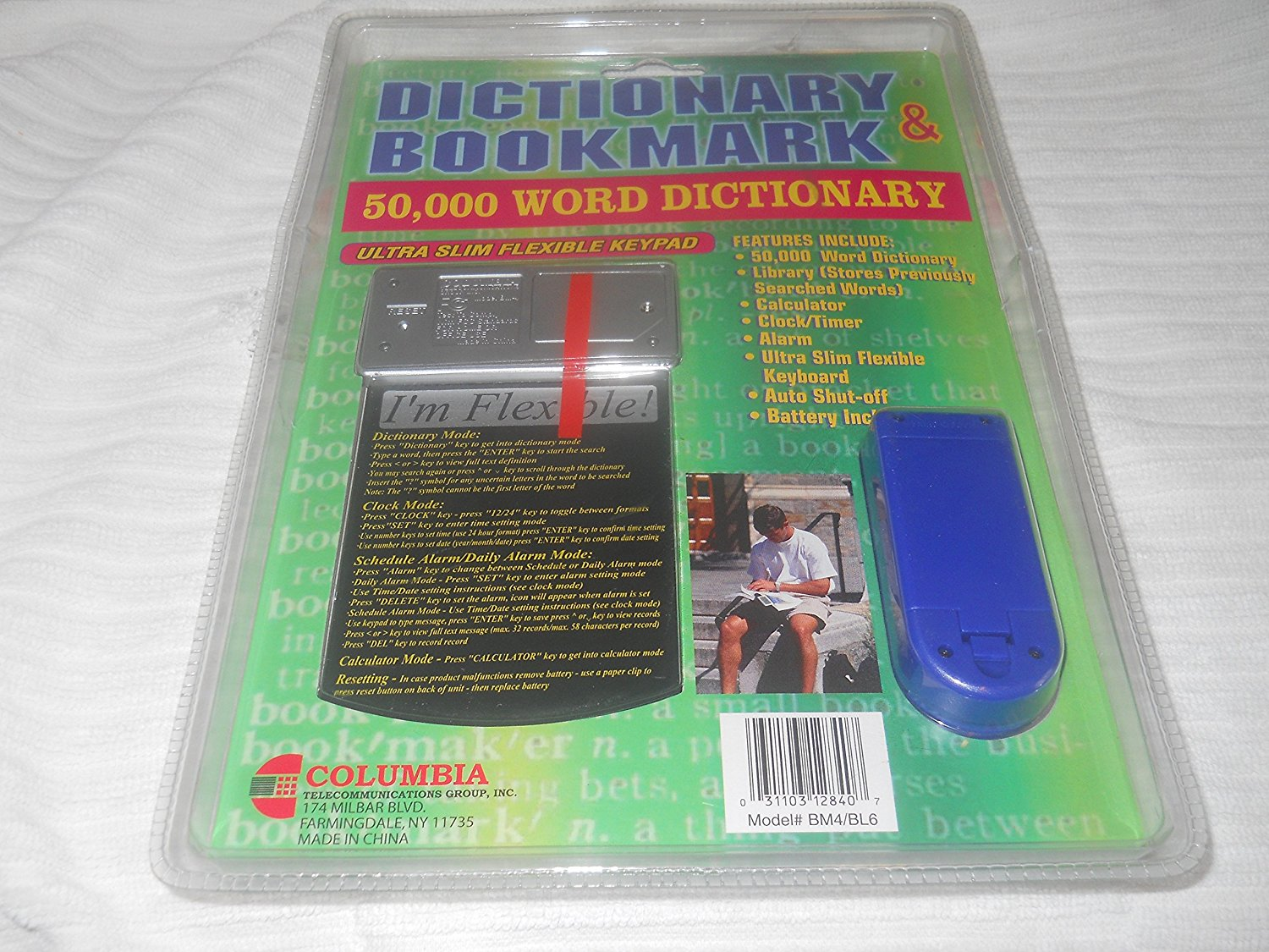 Dictionary Bookmark & 50,000 Word Dictionary