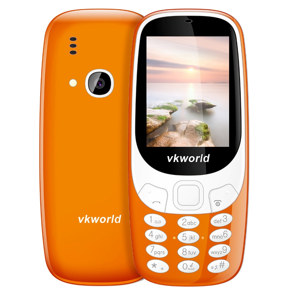 2017 new mobile phone original VKWORLD Z3310 2.4 inch 1450mAh unlocked cell phone FM radio dual sim card for wholesale