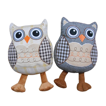 Wholesale Owl Shape Fabric Embroidery Door Stopper With Sand Bag