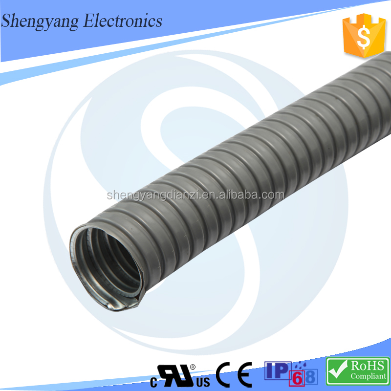 SY Waterproof Insulation PVC Metal Corrugated Pipe Used For Mineral Metallurgy Wire Tube