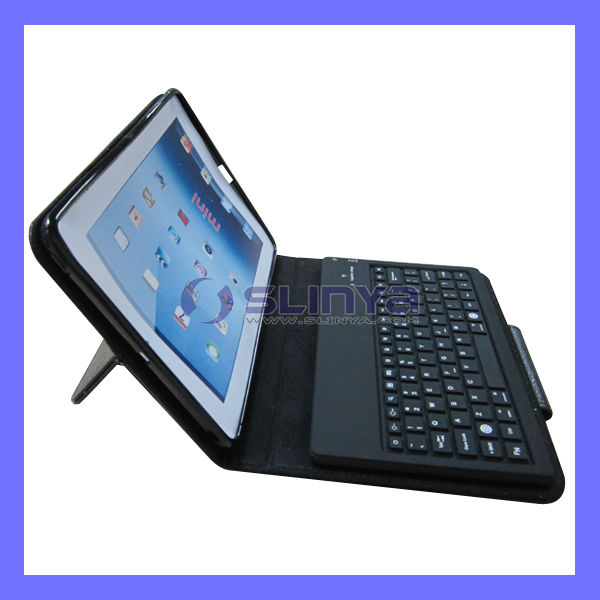 Blutooth 3.0 Connector Leather Bag Keyboard for iPad Mini Game Play