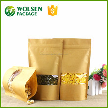2017 China factory direct sell new products ziplock stand up kraft paper bag