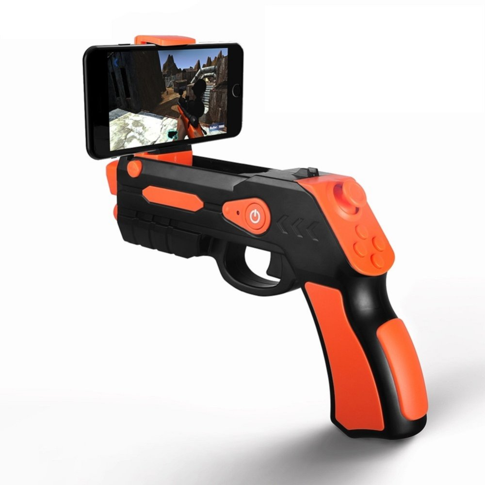 High quality mobile phone controlled app game 3D Ar gun Game Plastic Replica Hand Toy Shot Guns For Children