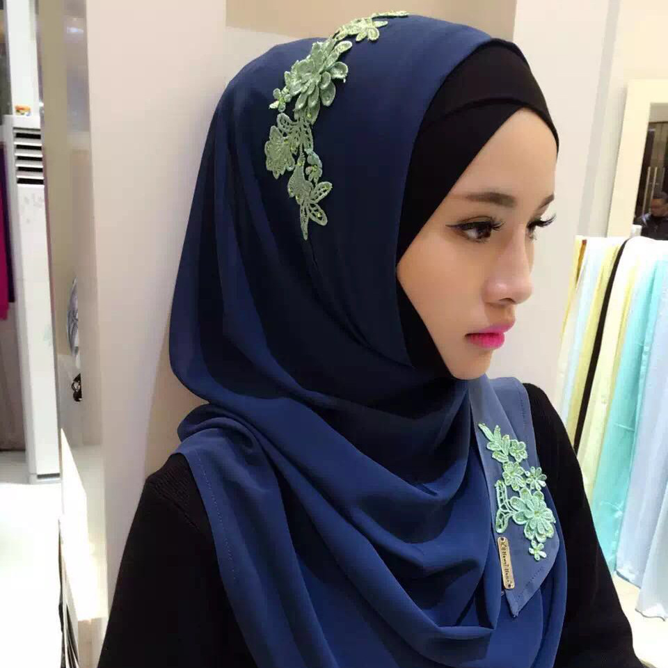 Hot selling maleisië moslim shawl chiffon voile sjaal vrouwen hijab