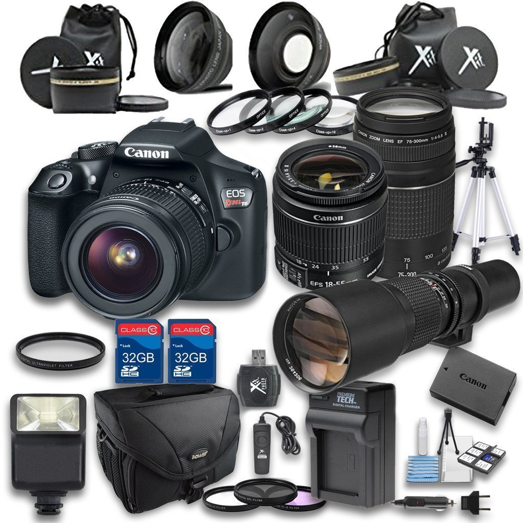Get Quotations · Canon EOS Rebel T6 Digital SLR Camera with EF-S 18-55mm f/