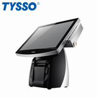 TYSSO All in One Embedded Printer True Flat Touch Screen Fanless POS