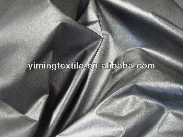 polyester taffeta fabric with Silver backing