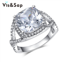 6ct AAA cz diamond wholesale ring White Gold plated Vintage engagement Wedding Rings For Women fashion