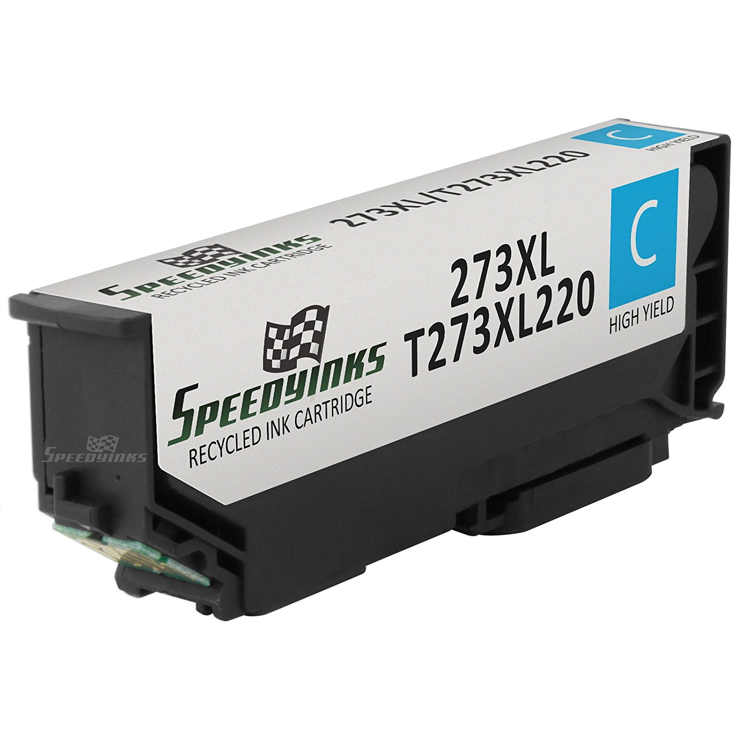 Speedy Inks - Remanufactured High Yield Cyan Ink for Epson T273XL 273XL TT273XL220for use in Epson Expression XP-600 Small-in-One, XP-800 Small-in-One, Premium XP-610 Small-in-One, Premium XP-810 Small-in-One, Premium XP-520 Small-in-One, Premium XP-620 Small-in-One, Premium XP-820 Small-in-One
