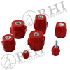 Red high voltage SM76 Conical insulator for 660V