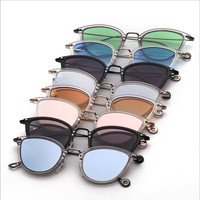 FONHCOO European Style TR90 Vintage Round Retro Sunglasses For Men Women
