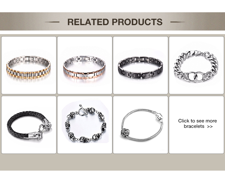 New arrival locking stainless steel chain bracelet